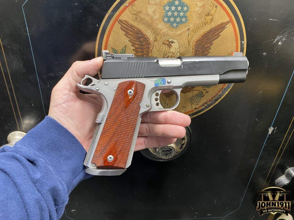 Ed Brown Executive Target 9mm 1911. Two Tone.