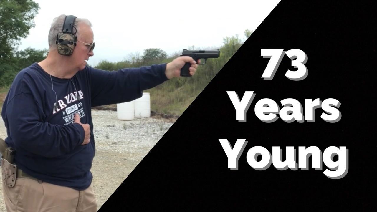 Old man shooting.