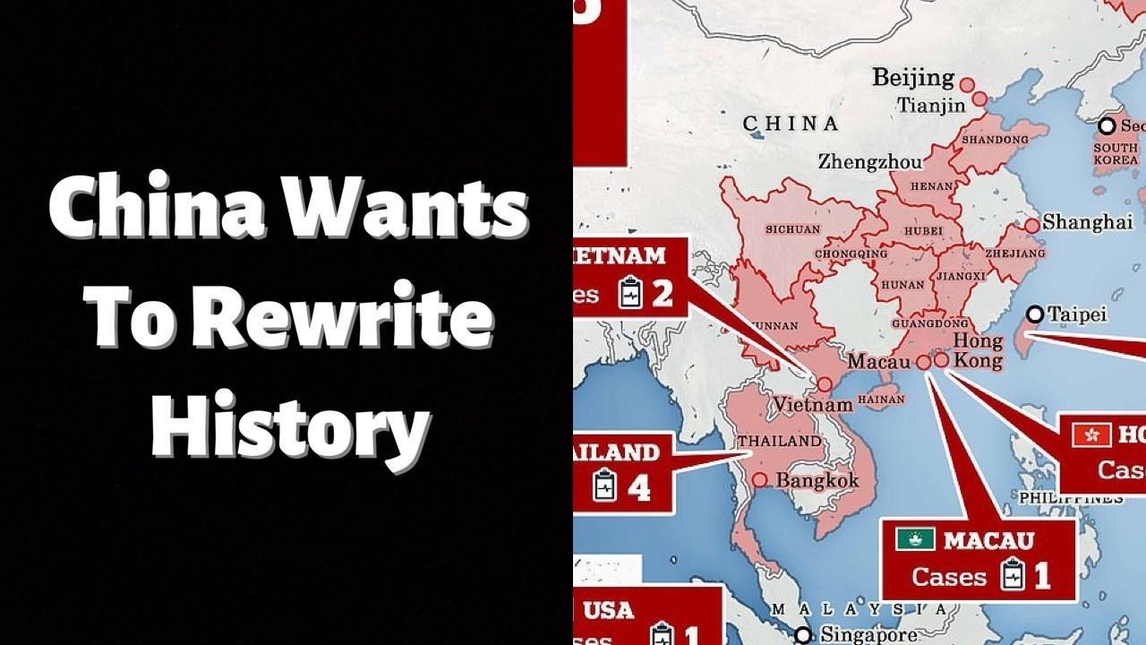 China is rewriting history.