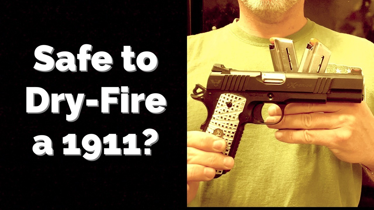 How to dry-fire a 1911.