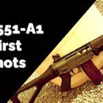 SIG 551-A1 First Shots